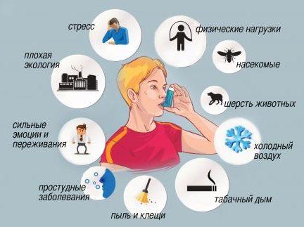 аллергены которые могут спровоцировать приступ асмты